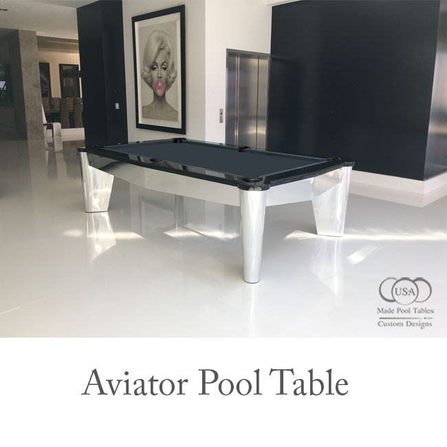 Aviator Modern Pool Table