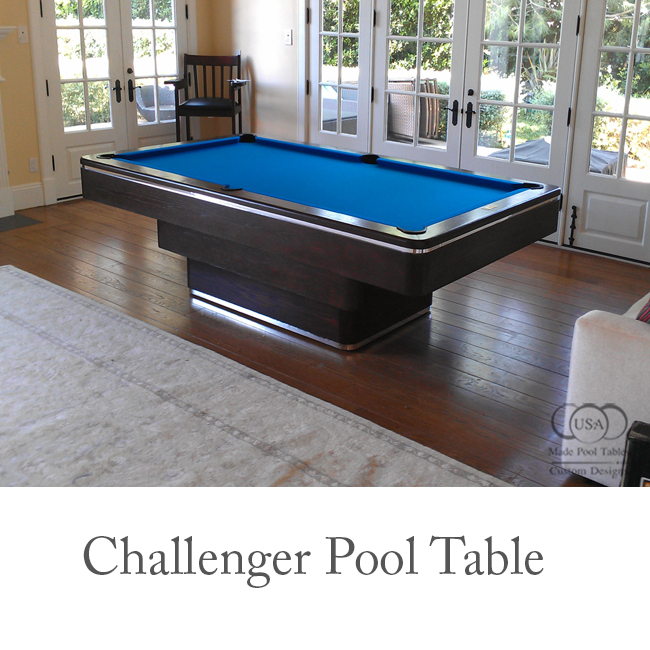 Challenger Contemporary Pool Table