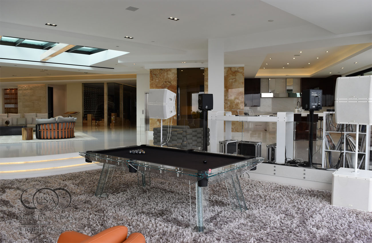 Glass Pool Tables