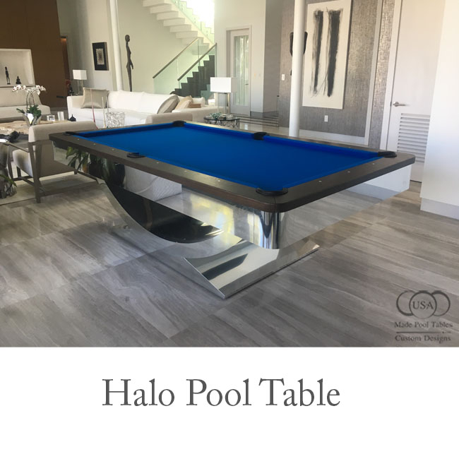 The Halo Contemporary Pool Table