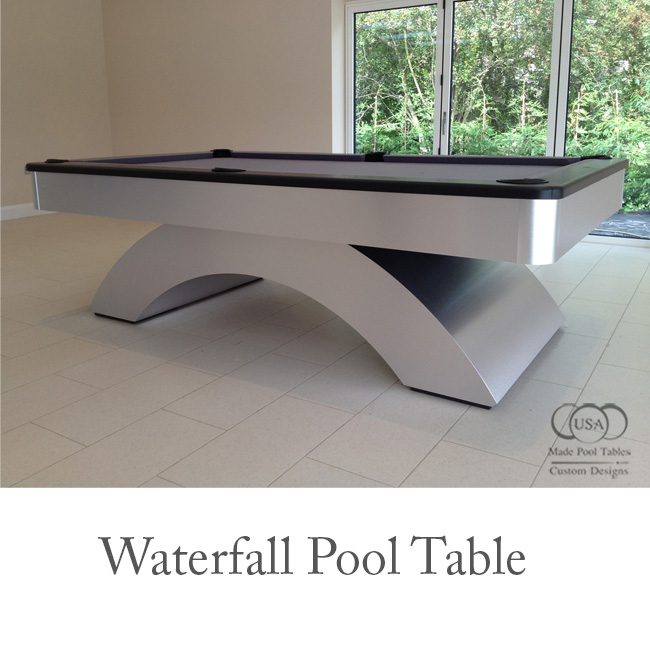 Waterfall Contemporary Pool Table
