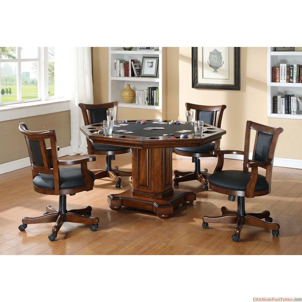 2-IN-1 GAME TABLE AND WITH 4 CHAIRS SET