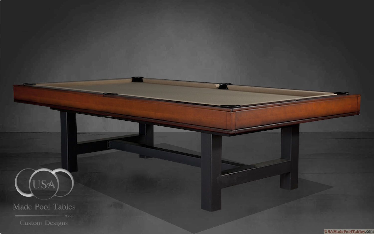 Cherry Finish Pool Tables Table
