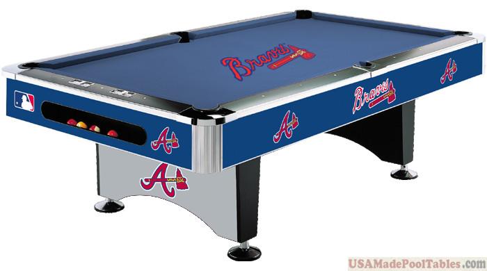 MLB Atlanta Braves Pool table