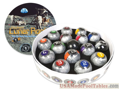 McDermott Lunar Rocks Ball Billiard Set