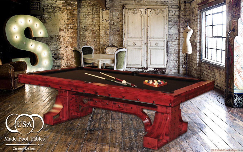STEEL POOL TABLE