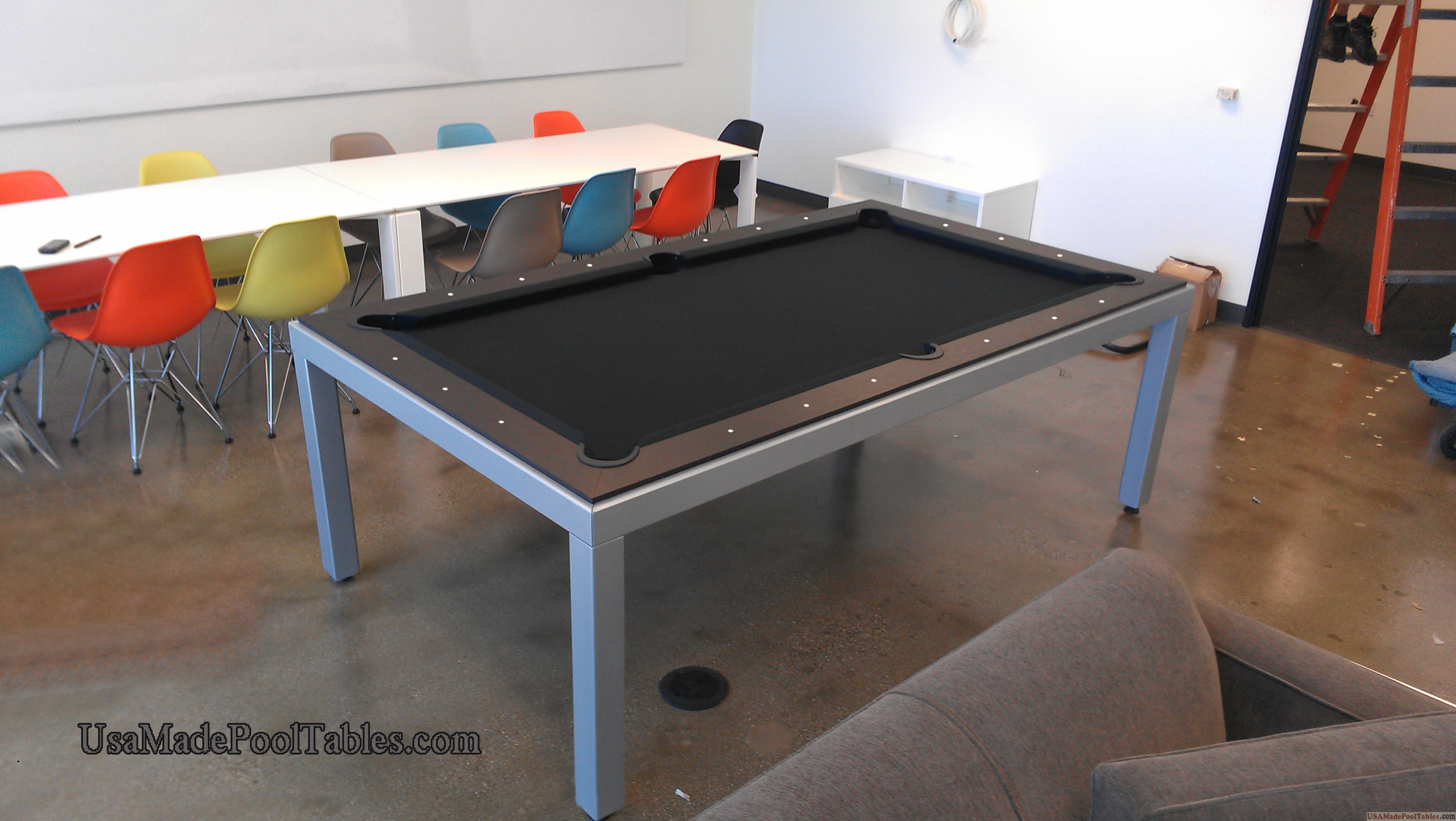 Fusion Contemporary Pool Table Modern Pool Tables 7 8