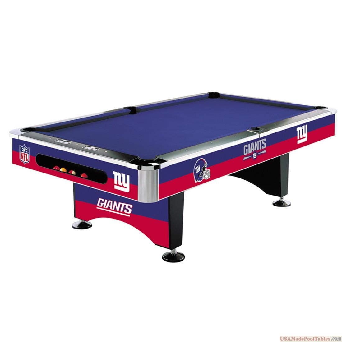 NFL New York Giants Pool table