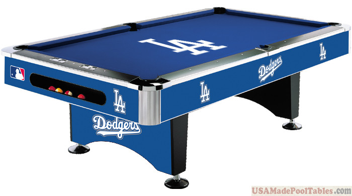MLB Los Angeles Dodgers Pool table : LOS ANGELES POOL TABLES :
