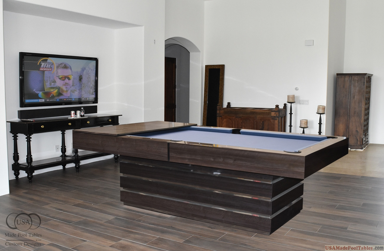Hermosa Pool Table Gray Shimmerwood
