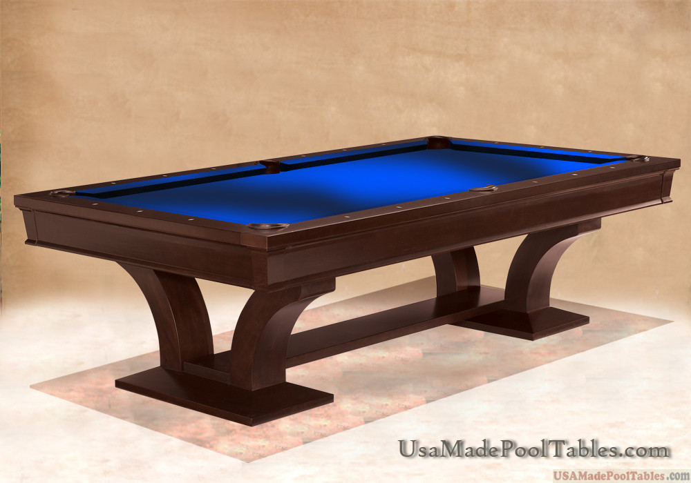 PENTHOUSE CONTEMPORARY POOL TABLE POOL TABLES MODERN POOL TABLES - Electric blue pool table