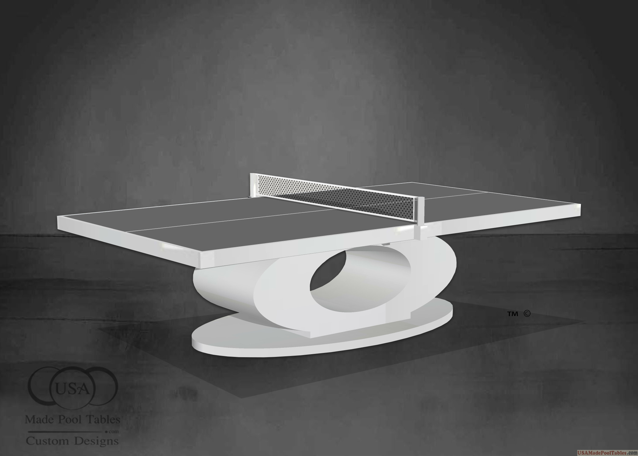 WHITE PING PONG TABLE TENNIS