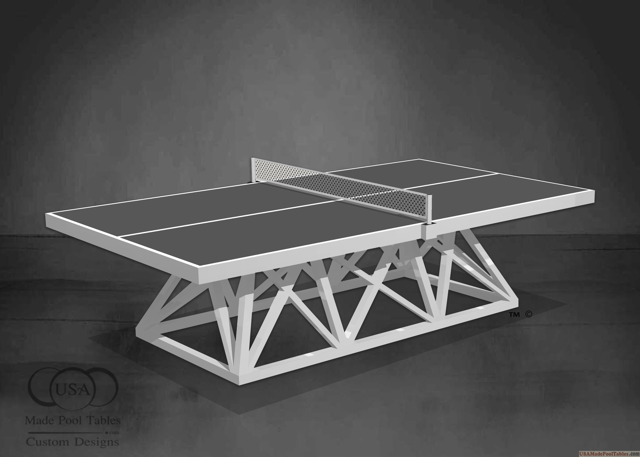 WHITE PING PONG TABLES : TENNIS TABLES
