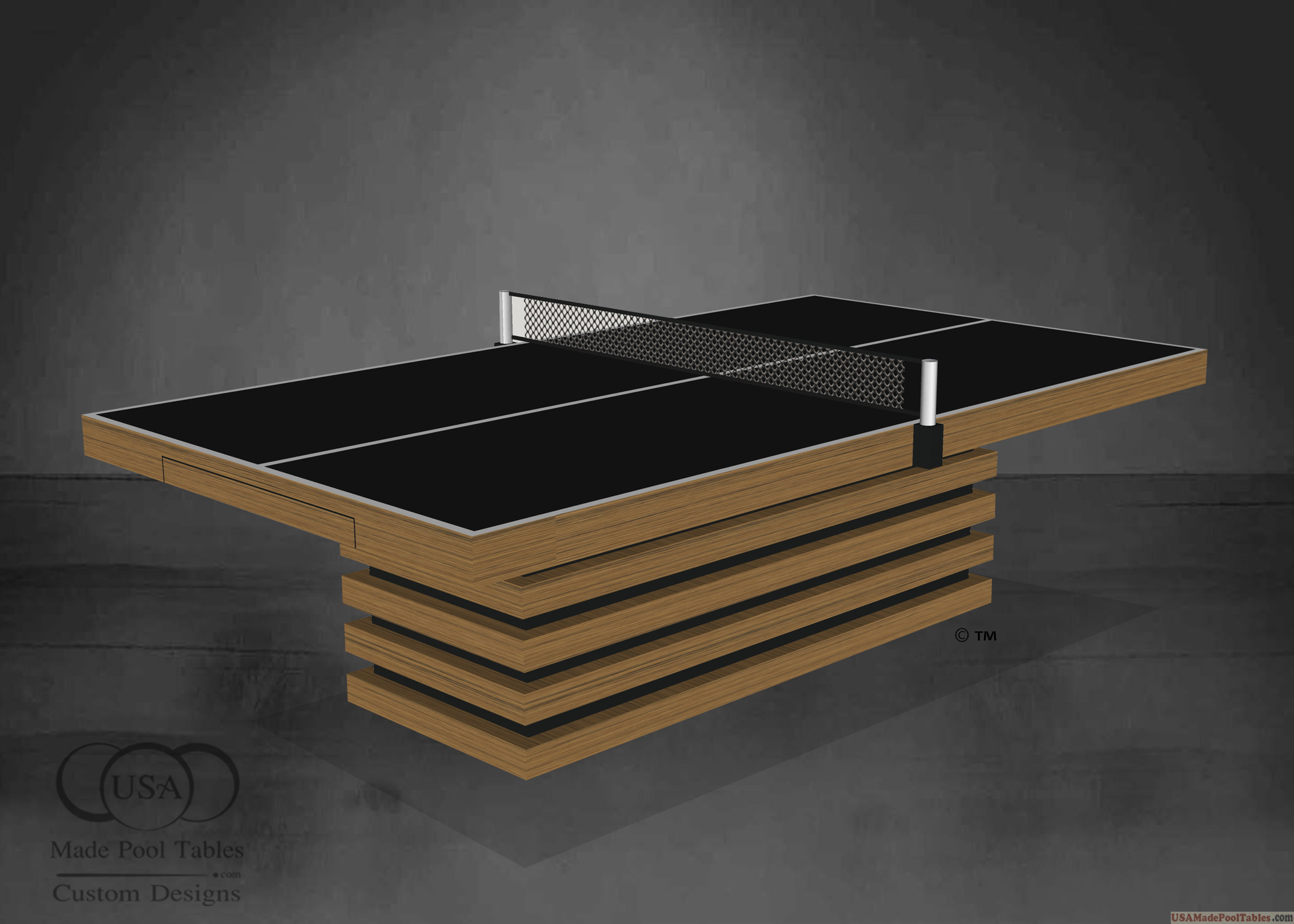 TEAK PING PONG TABLE TENNIS