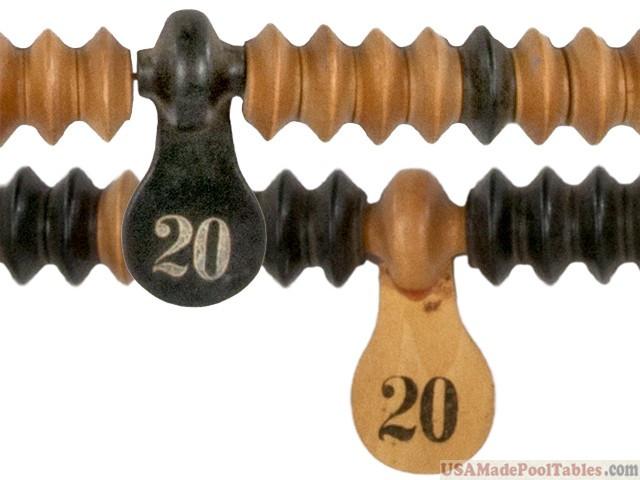 Pool Table Billiard Wooden Scoring Beads Keeper