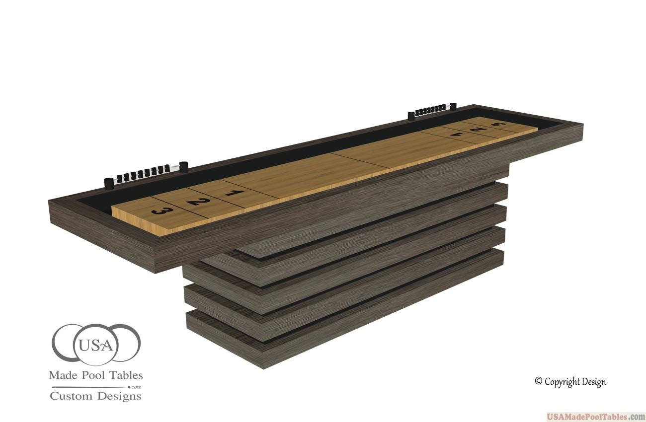 Shuffleboard Tables Aspen Oak