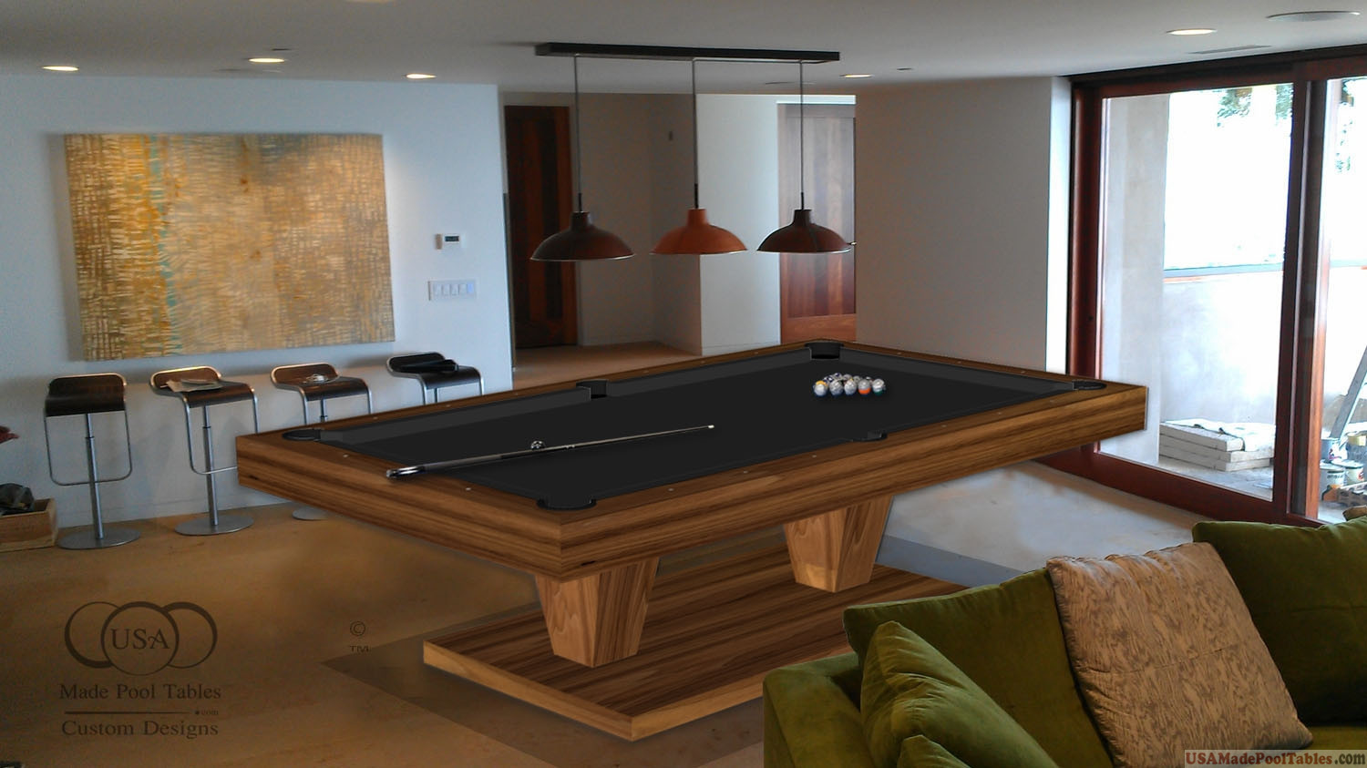 Pool Table Walnut