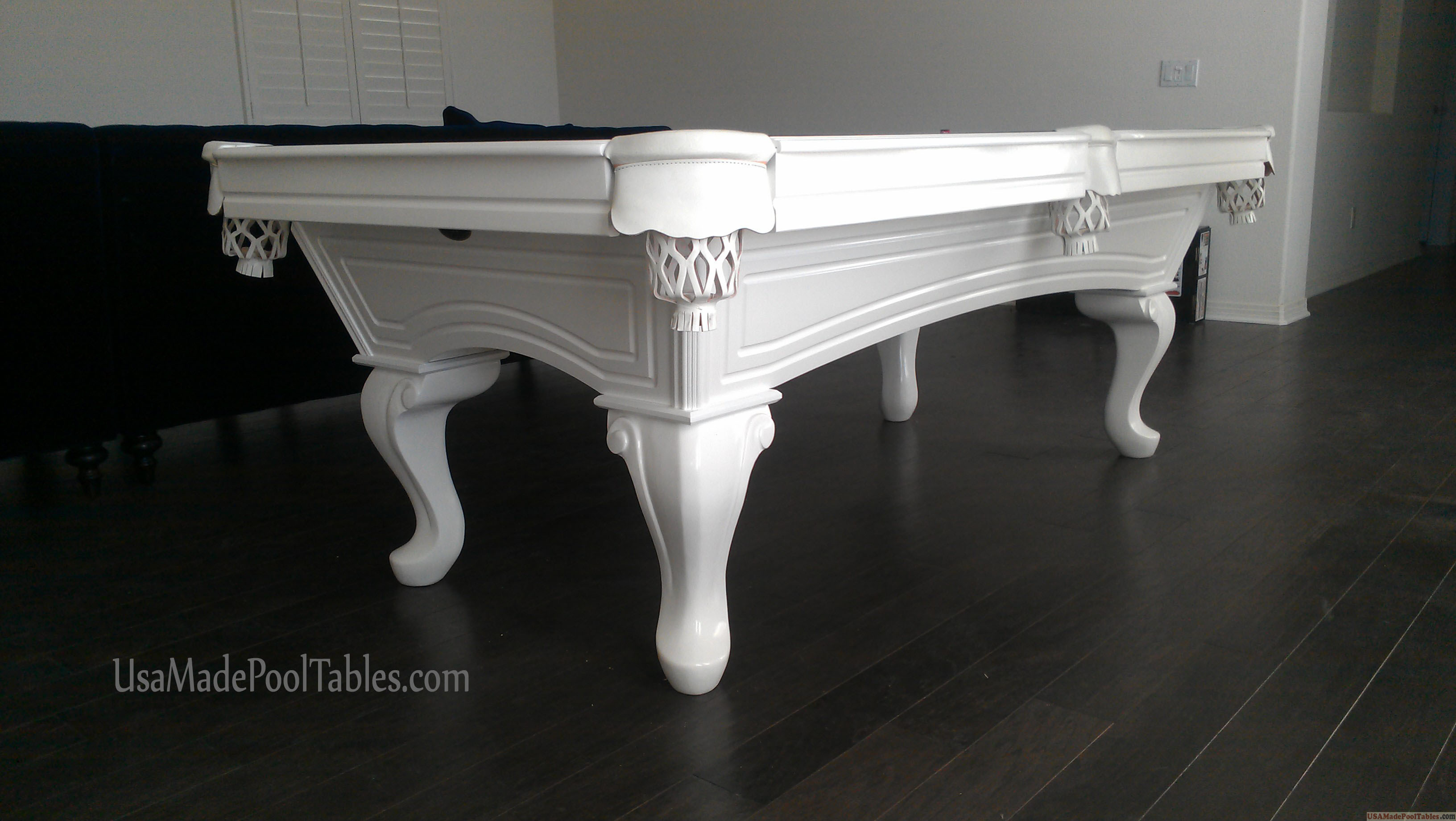 CHIPPENDALE POOL TABLES WHITE POOL TABLE POOL TABLES BILLIARD - White billiard table
