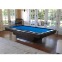 Challenger Contemporary Pool Table Mahogany