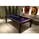 Melrose Contemporary Pool Table Black & Walnut