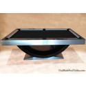 The Halo Contemporary Pool Table Brush Aluminium Made In USA