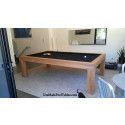 Riviera Contemporary Pool Table Teak