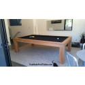 Riviera Contemporary Pool Table Teak