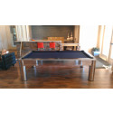 THE COSMOPOLITAN CONTEMPORARY POOL TABLES CHROME