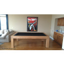 Riviera Contemporary Pool Table Oak Teak Finish