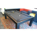 Riviera Contemporary Pool Table Oak Black