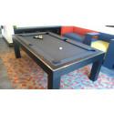 Riviera Contemporary Pool Table Oak Black
