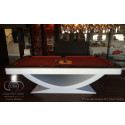 The Halo Contemporary Pool Table White