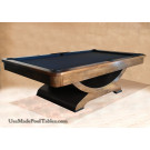 WALNUT POOL TABLE CONTEMPORARY