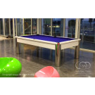 WHITE POOL TABLE : MODERN WHITE POOL TABLE