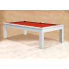 MODERN POOL TABLES : WHITE POOL TABLE