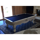 WHITE POOL TABLE : POOL TABLES